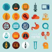 Conjunto de iconos planos médicos — Foto de Stock