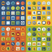 Set van medische plat pictogrammen — Stockfoto