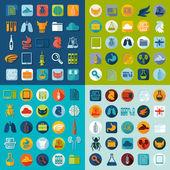 Set of veterinary flat icons — Stock Photo