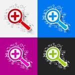 tekening van medische formules: Vergrootglas — Stockfoto #50190083