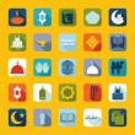 Set of flat icons: Ramadan Kareem — Stock Photo #50192667