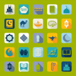 Set of flat icons: Ramadan Kareem — Stock Photo #50192673