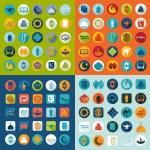 Set of flat icons: Ramadan Kareem — Stock Photo #50192687