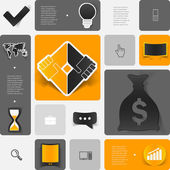 Geschäft geometrische infographik — Stockfoto