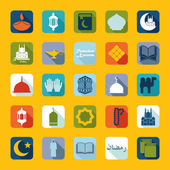 Set of flat icons: Ramadan Kareem — Stock Photo