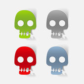 Realistic design element: skull — Stock Photo