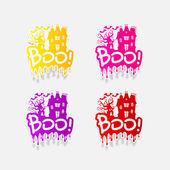 Realistic design element: boo — Stock Photo