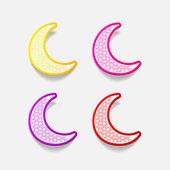 Realistic design element: moon — Stock Photo