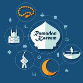 Ramadan Kareem symbols — Stock Vector