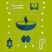 Ramadan kareem symbole — Stockvektor