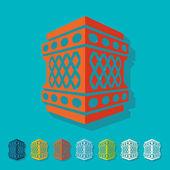 Arabic lantern — Stock Vector