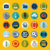 Zestaw medyczny etykietyετικέτες ιατρική σύνολο — Wektor stockowy