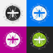 Mosquito sign — Stock Vector