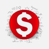 Usd inside medical formulas — Vettoriale Stock