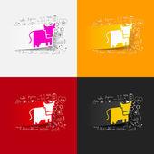 Kuh-zeichen — Stockvektor