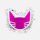 Cat sign — Stock Vector