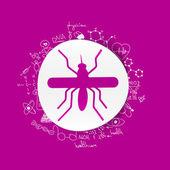 Mosquito sign — Stockvektor