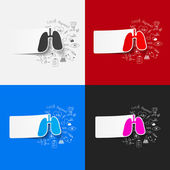 Lung inside medical formulas — Stock Vector