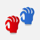 Zombie hand sign — Stock Vector