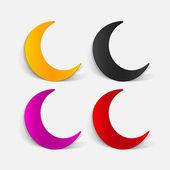 Realistic design moon — Stock Vector