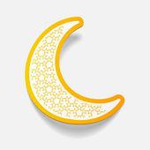 Design element moon — Stock Vector