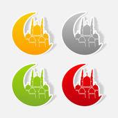 Islamic mosque sign — Vettoriale Stock