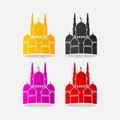 Design element mosque — Stock Vector