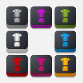 Football clothing buttons — Stock Vector