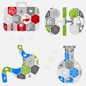 ícones médicos do set — Vetor de Stock