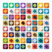 Ketupat pictogrammen — Stockvector