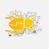 Beetle illustration — Stock Vector
