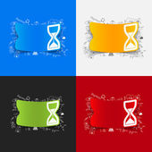 Hourglass illustration — Stock Vector