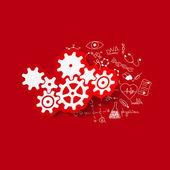 Cogwheel illustration — Stock Vector