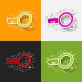 Magnifier illustration — Stock Vector