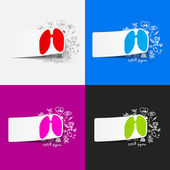 Lung illustration — Stock Vector