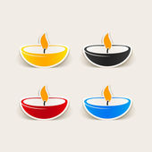 Candle design element — Stock Vector