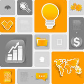 Business elements — Stock Vector