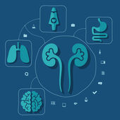 医療のインフォ グラフィック要素 — ストックベクタ