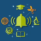 教育の要素 — ストックベクタ