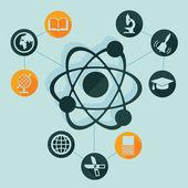 Onderwijs elementen — Stockvector