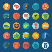 Iconos de futbol infografía — Vector de stock