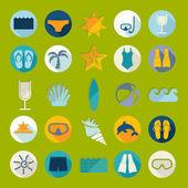Turystyka ikony — Wektor stockowy