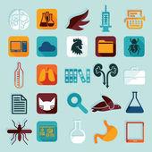 Veterinary flat icons — Stock Vector