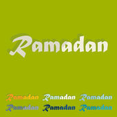 Flat design: Ramadan — Stock Vector