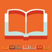 Flat design: book — Stock Vector