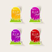 Design element: tombstone — Stock Vector