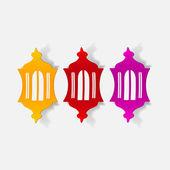 Design element: lantern — Stock Vector