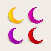Design element: moon — Stock Vector