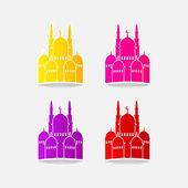 Design element: mosque — Stock Vector