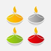 Élément de design : lampe — Vecteur
